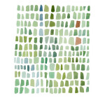 Watercolor Sea glass green